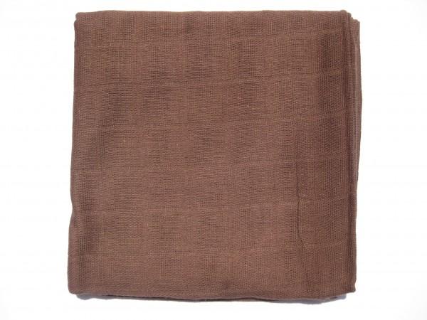 Mulltuch, ca. 70 cm x 70 cm, braun