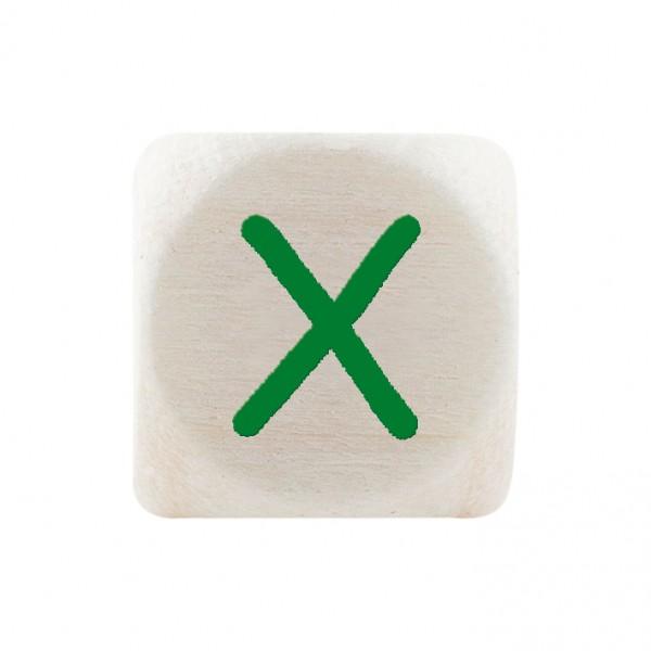 Premiumbuchstabe 10 mm grün X
