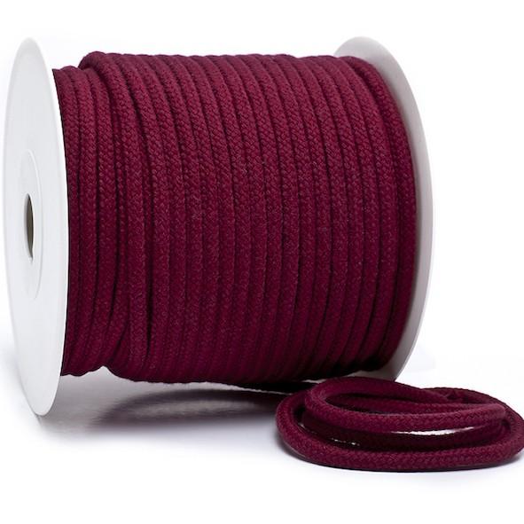 Kordel 100% Baumwolle 6 mm bordeaux