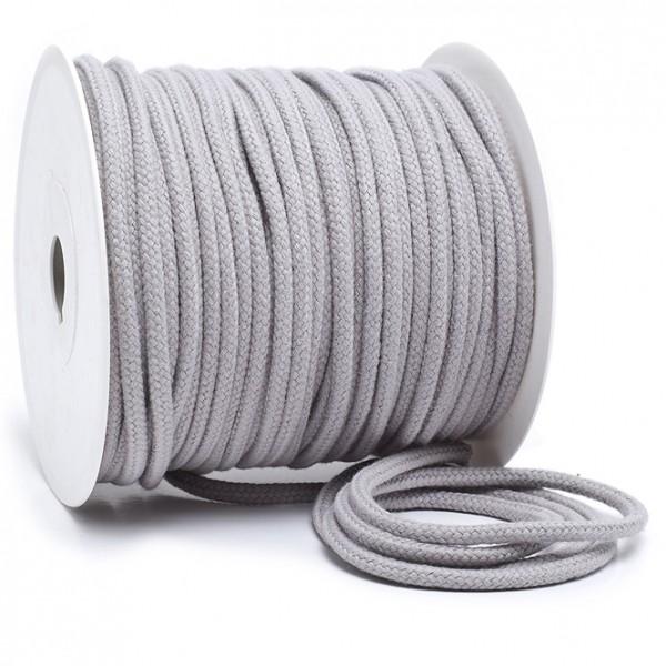 Kordel 100% Baumwolle 6 mm hellgrau