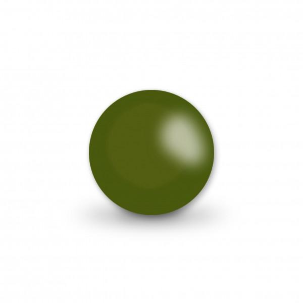 Ausverkauf Uniperlen 12 mm olive