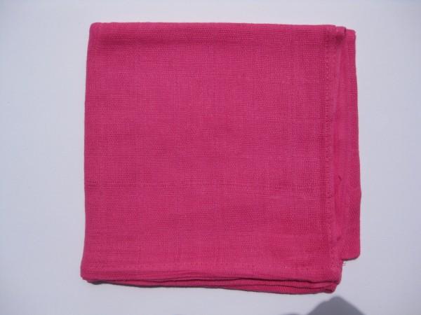 Mulltuch, ca. 70 cm x 70 cm, pink