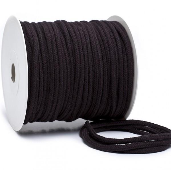 Kordel 100% Baumwolle 6 mm schwarz