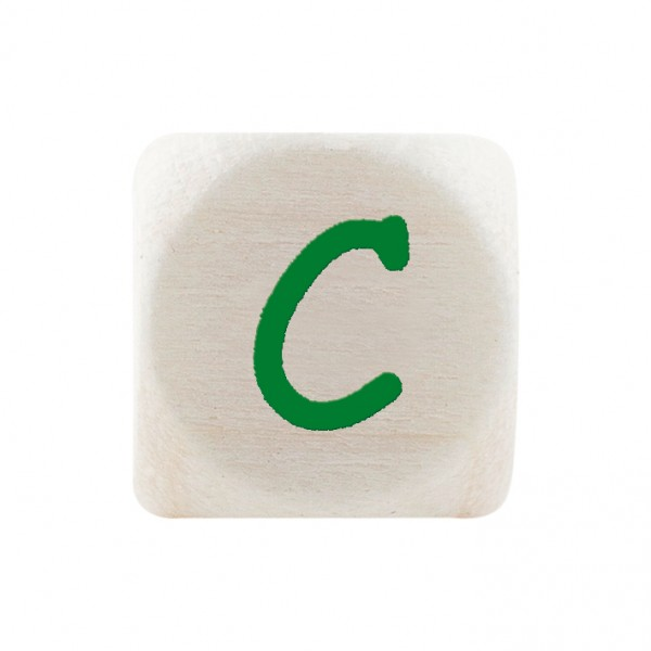 Premiumbuchstabe 10 mm grün C
