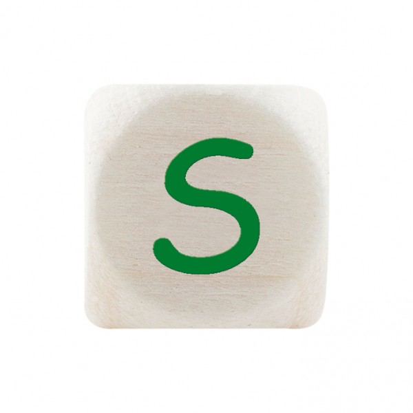 Premiumbuchstabe 10 mm grün S