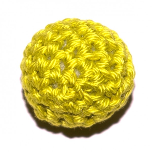 Häkelkugel mit Wattefüllung lemon