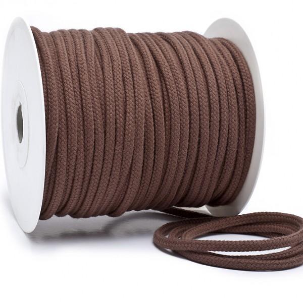 Kordel 100% Baumwolle 6 mm dunkelbraun