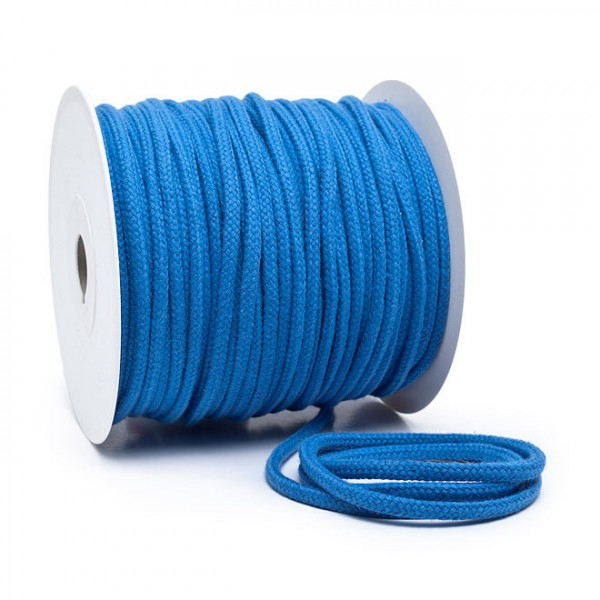 Kordel 100% Baumwolle 6 mm azurblau