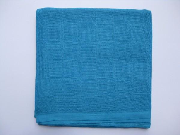 Mulltuch, ca. 70 cm x 70 cm, türkis