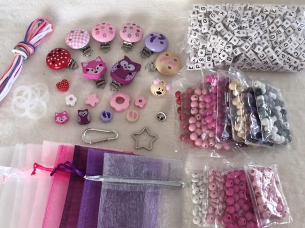 großes Bastelset für Mädchen mit Kunststoffbuchstaben