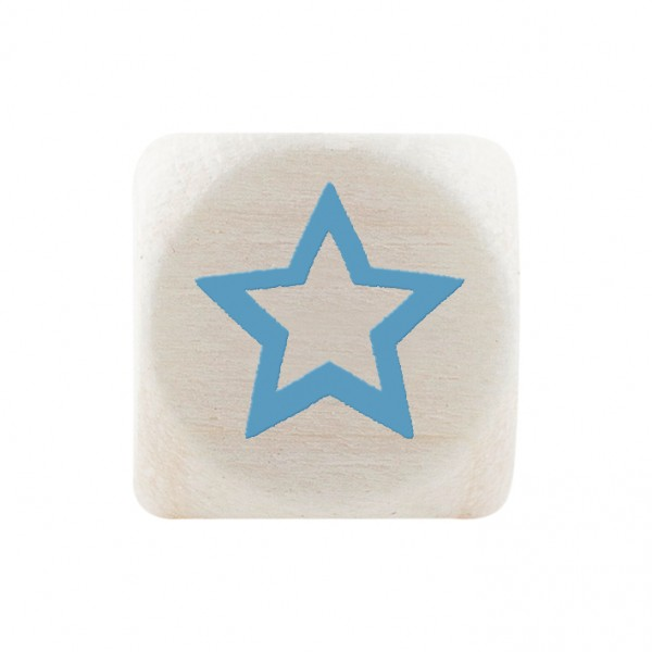 Premiumbuchstabe 10 mm babyblau Stern