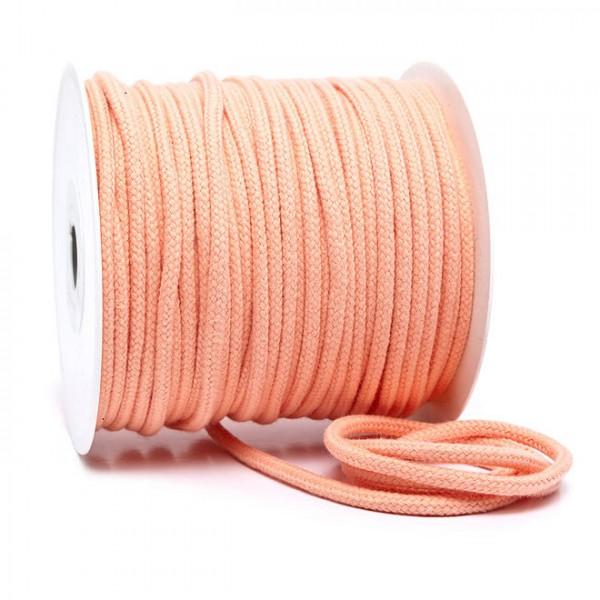Kordel 100% Baumwolle 6 mm lachs