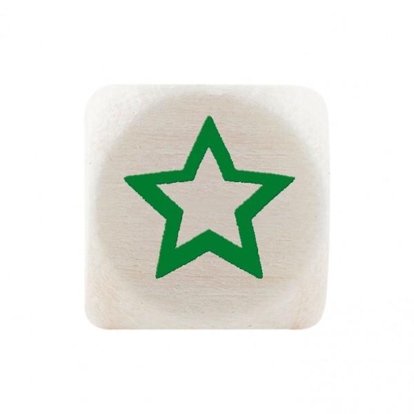 Premiumbuchstabe 10 mm grün Stern