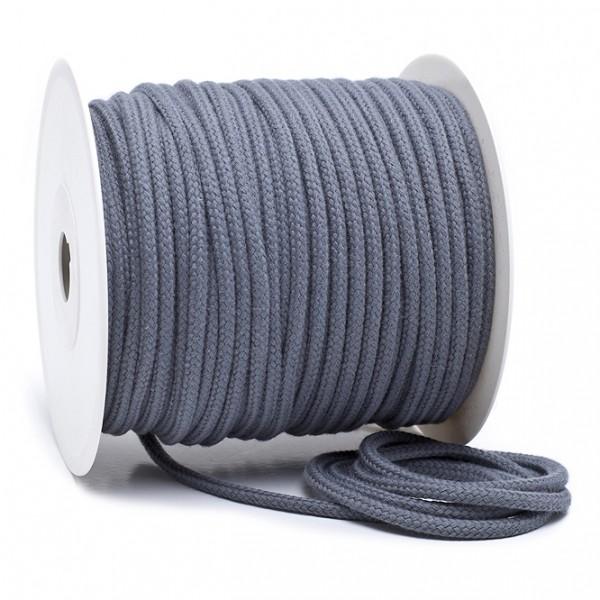 Kordel 100% Baumwolle 6 mm mittelgrau