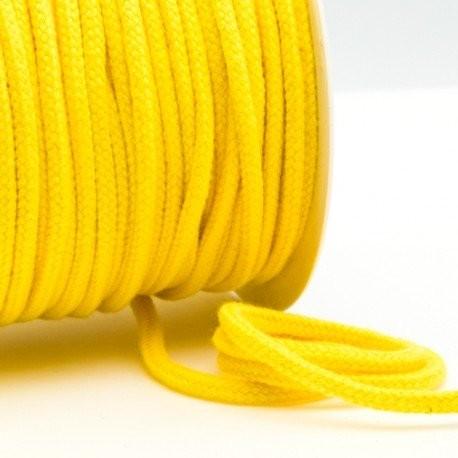 Kordel 100% Baumwolle 6 mm gelb