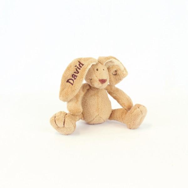 Minihase mit Wunschname braun (Modell David)