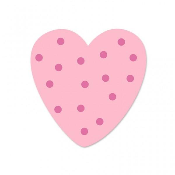 Ausverkauf Motivperle Tupfenherz horizontal babyrosa/pink