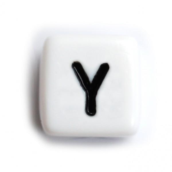 Kunststoffbuchstabenwürfel 10 mm einzeln Y