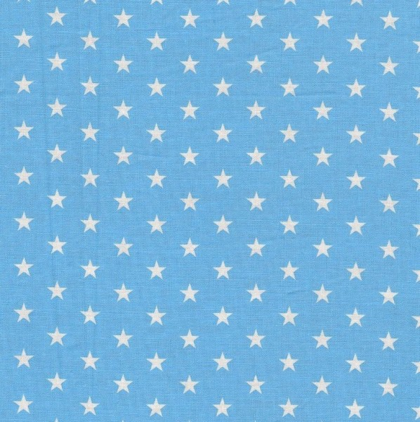 148cm schwarz-weiß Baumwolldruck mit Sternen