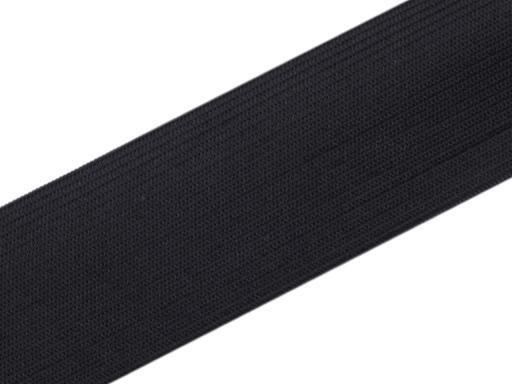 Gummiband glatt Breite 40 mm gewebt schwarz