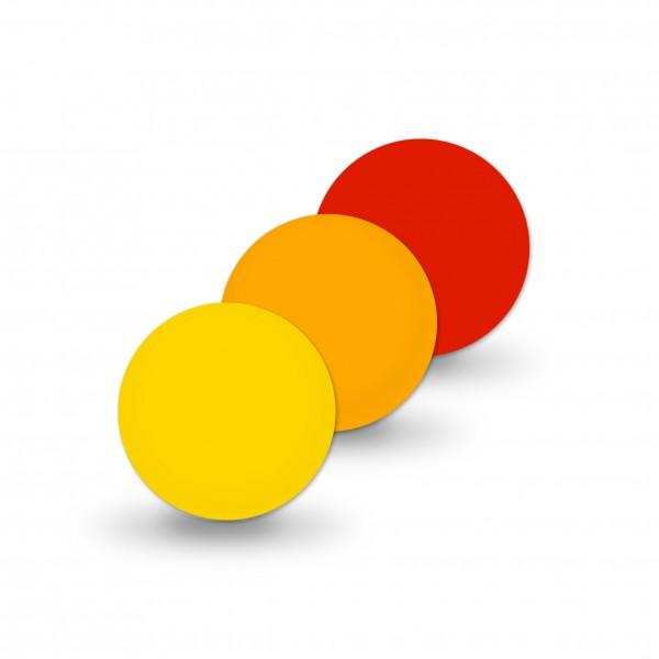 Uniperlen 10 mm gelb-mix