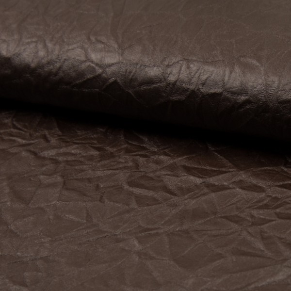 gecrushter, leichter Stoff im Lederlook dunkelbraun