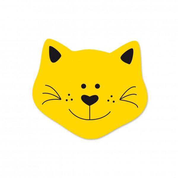 Angebot Motivperle Mini-Katze vertikal maisgelb