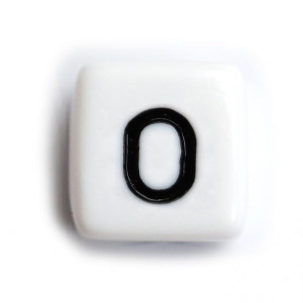 Kunststoffbuchstabenwürfel 10 mm einzeln O