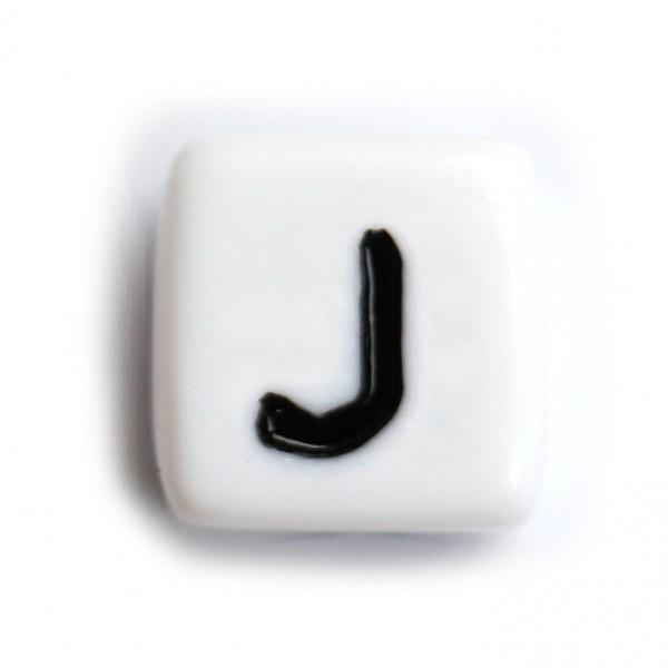 Kunststoffbuchstabenwürfel 10 mm einzeln J