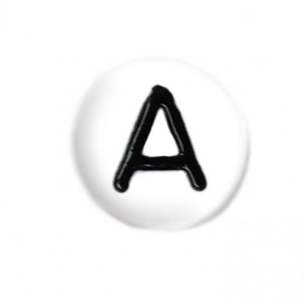 weisse Buchstabenperlen 7 mm A