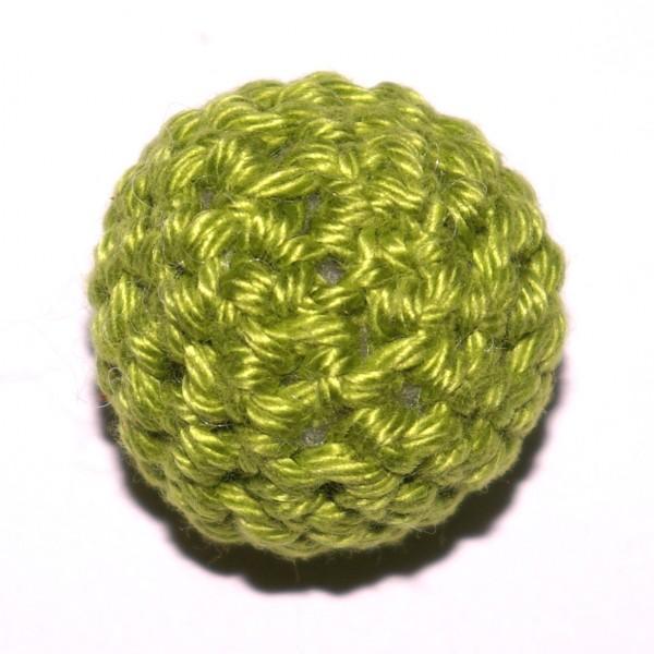 Häkelkugel mit Wattefüllung apfelgrün