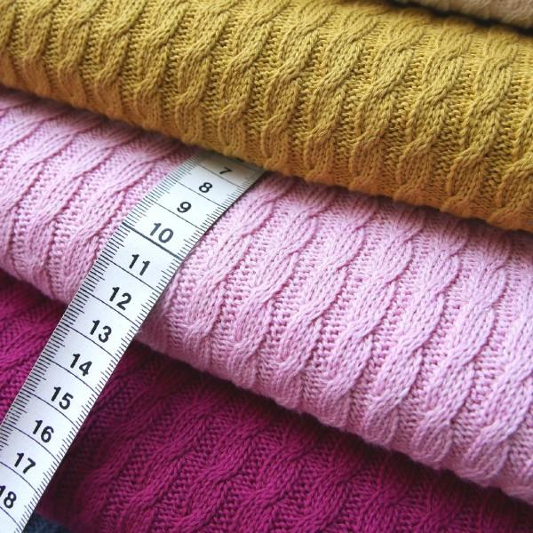 Pattern Love - Knitty Plait rosé mélange by Albstoffe und Hamburger Liebe