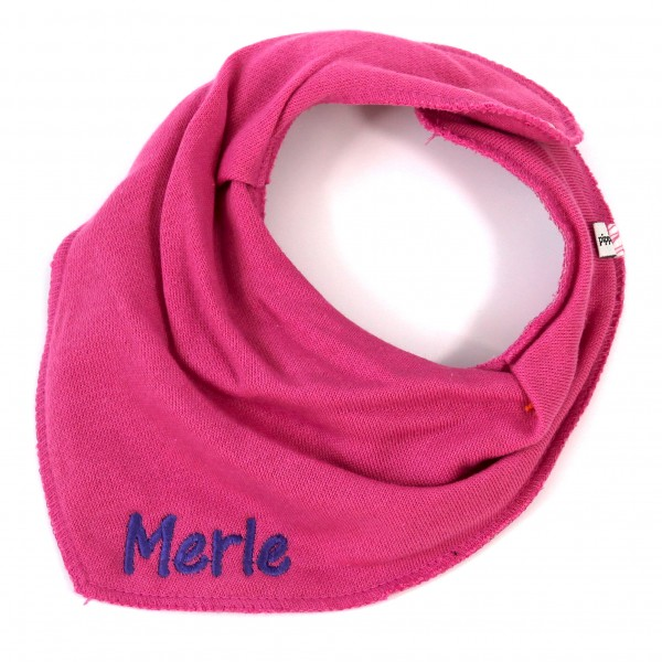 Halstuch mit Name pink/lila (Modell Merle)
