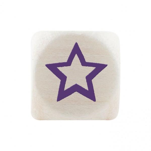 Angebot Premiumbuchstabe 10 mm lila Stern