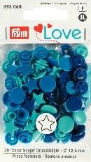 Prym Love Druckknöpfe 'Color Snaps' Sterne blau/türkis/tinte
