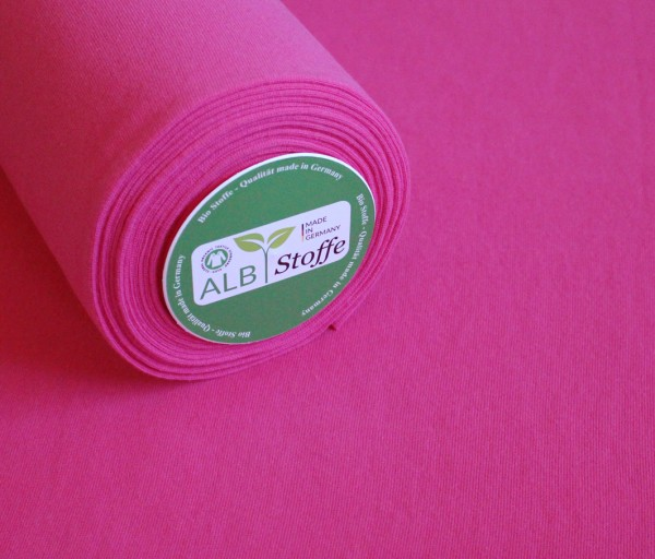Albstoffe Bio-Bündchen uni pink