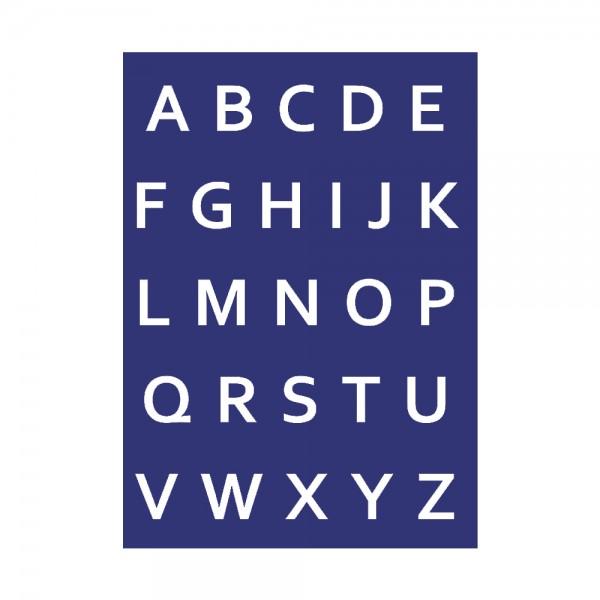 Schablone A4, Alphabet Großbuchstaben