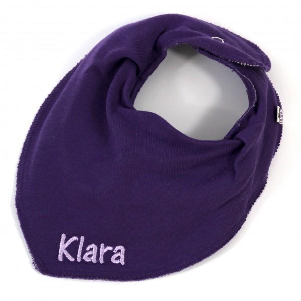 Halstuch mit Name lila/flieder (Modell Klara)