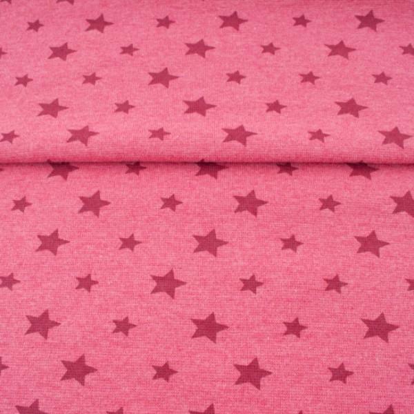 Sale Bündchen Sterne meliert pink/bordeaux