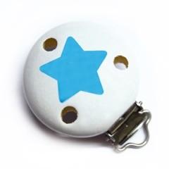 Sale Motivclip II Stern schnee/skyblau