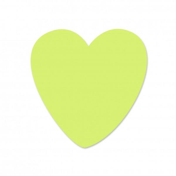Ausverkauf Motivperle Herzchen vertikal lemon