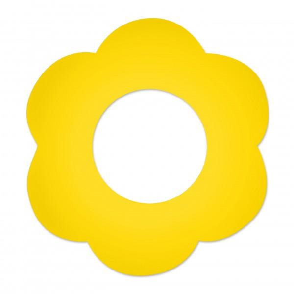Ausverkauf Motivperle Blume horizontal maisgelb