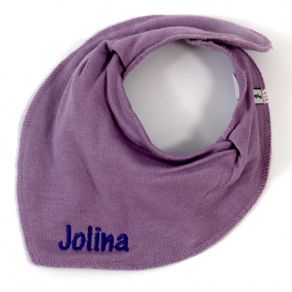 Halstuch mit Name flieder/lila (Modell Jolina)