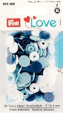 Prym Love Druckknöpfe 'Color Snaps' blau/hellblau/weiß