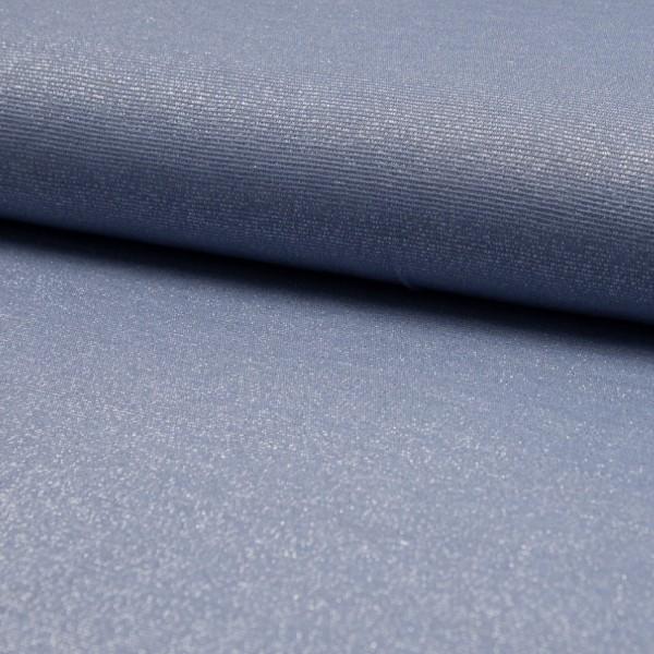 Glitzerjersey jeansblau
