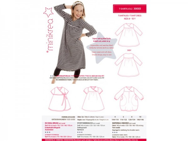 30003- Schnittmuster/Pattern T-Shirt Kleid/Dress