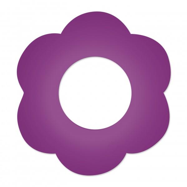 Motivperle Blume gross horizontal violett