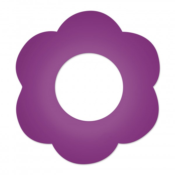 DEAL Motivperle Blume gross horizontal violett