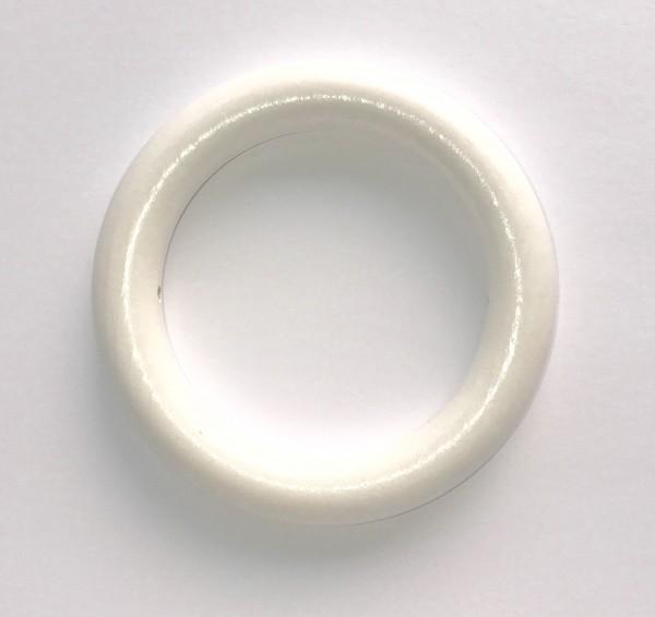 SALE Holzring 85 mm mit Bohrung weiß