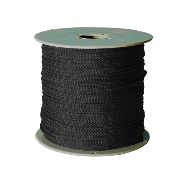 100 m Schnurrolle, 1,5 mm Durchmesser, schwarz